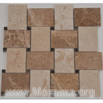 Marble Cross Basket Mosaic
